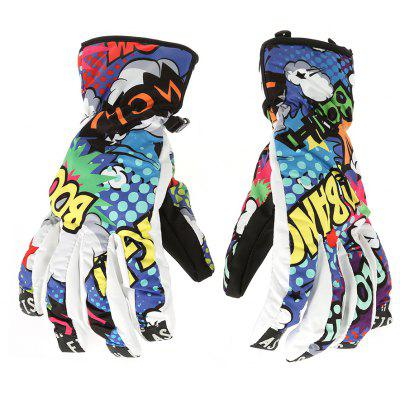 Thicken Warm Skiing Gloves  -  M в магазине GearBest