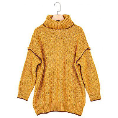 Turtleneck 3/4 Sleeve Loose Women Sweater