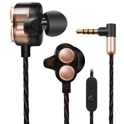 Jies X7 Stereo HiFi In-ear Earphones Double Horn with Mic