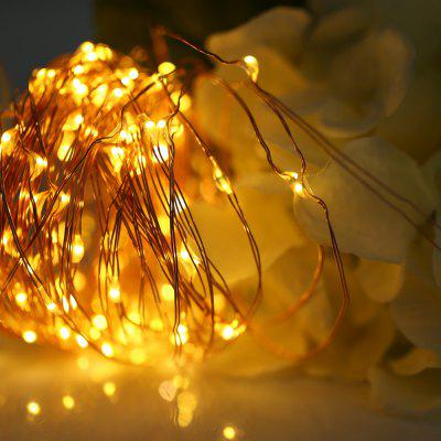 5M 50 LEDs Copper Wire Fairy String Light AA Battery
