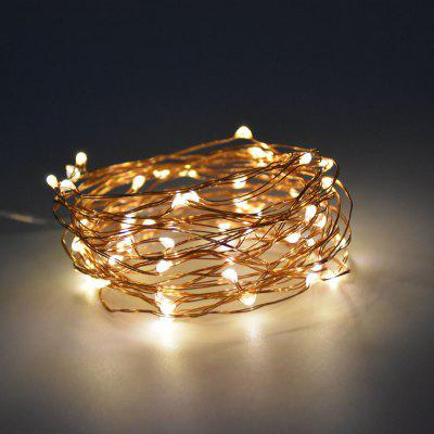 Buy WARM WHITE LIGHT 1M 10 LEDs Copper Wire Fairy String Light AA Battery for $1.35 in GearBest store