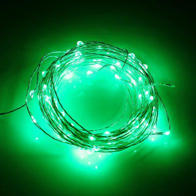 Buy GREEN 1M 10 LEDs Copper Wire Fairy String Light AA Battery for $1.35 in GearBest store
