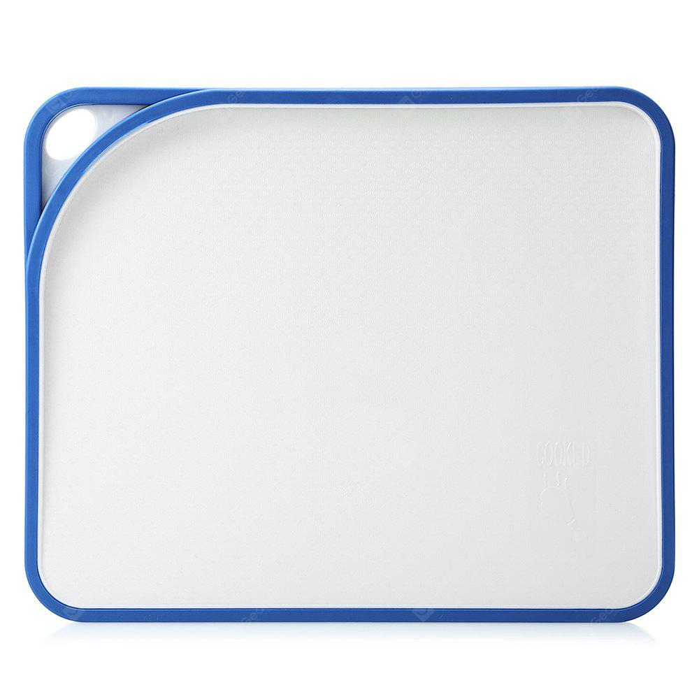 Plastic Cutting Board Double Sloping Surfaces Non-slip Board