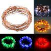 2M 20 LEDs Copper Wire Fairy String Light AA Battery - RED