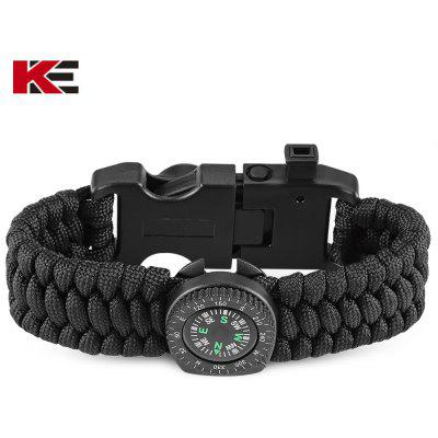 EMAK Outdoor Multifunctional Paracord Bracelet with Compass
