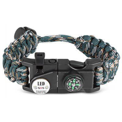 Outdoor Multifunctional Adjustable Paracord Bracelet