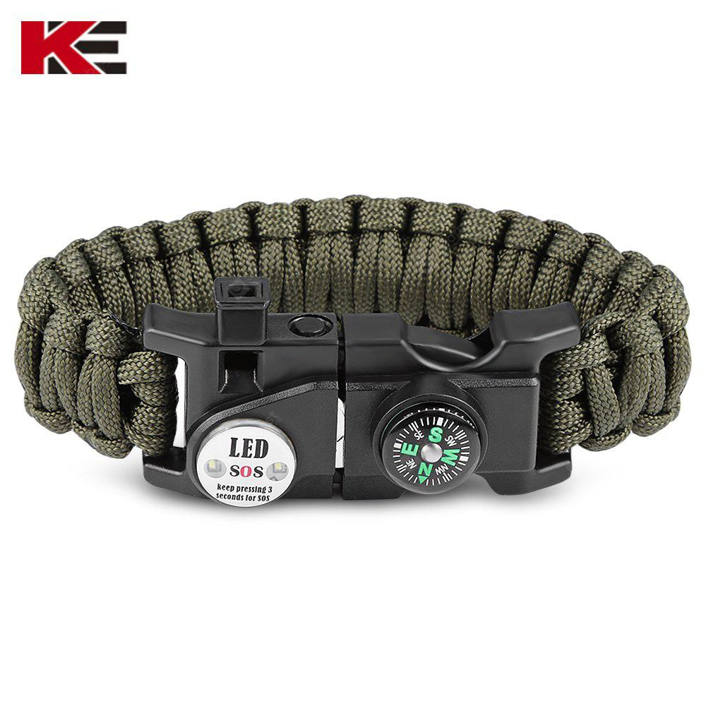 EMAK Multifunktionale Paracord Armband mit LED-Licht