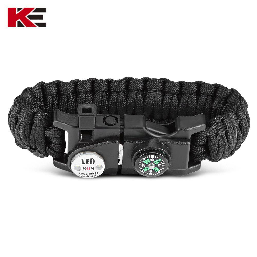 EMAK Outdoor Multifunctional Paracord Bracelet with LED Light