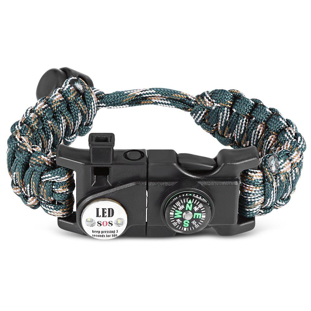 ARMY GREEN CAMOUFLAGE Outdoor Multifunctional Adjustable Paracord Bracelet