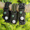 EMAK Outdoor Multifunktionale Paracord Armband mit Kompass - SCHWARZ