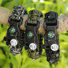 EMAK Outdoor Multifunctional Paracord Bracelet with LED Light - BLACK