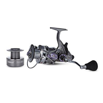 COONOR TS12 10 + 1BB 6.3:1 4.3:1 Gear Ratio Fishing ReelFishing Reels and Rods<br>COONOR TS12 10 + 1BB 6.3:1 4.3:1 Gear Ratio Fishing Reel<br><br>Package Contents: 1 x Fishing Reel, 1 x Plastic Spool, 1 x Pouch<br>Package Size(L x W x H): 18.00 x 15.00 x 10.50 cm / 7.09 x 5.91 x 4.13 inches<br>Package weight: 0.7200 kg<br>Product weight: 0.6150 kg