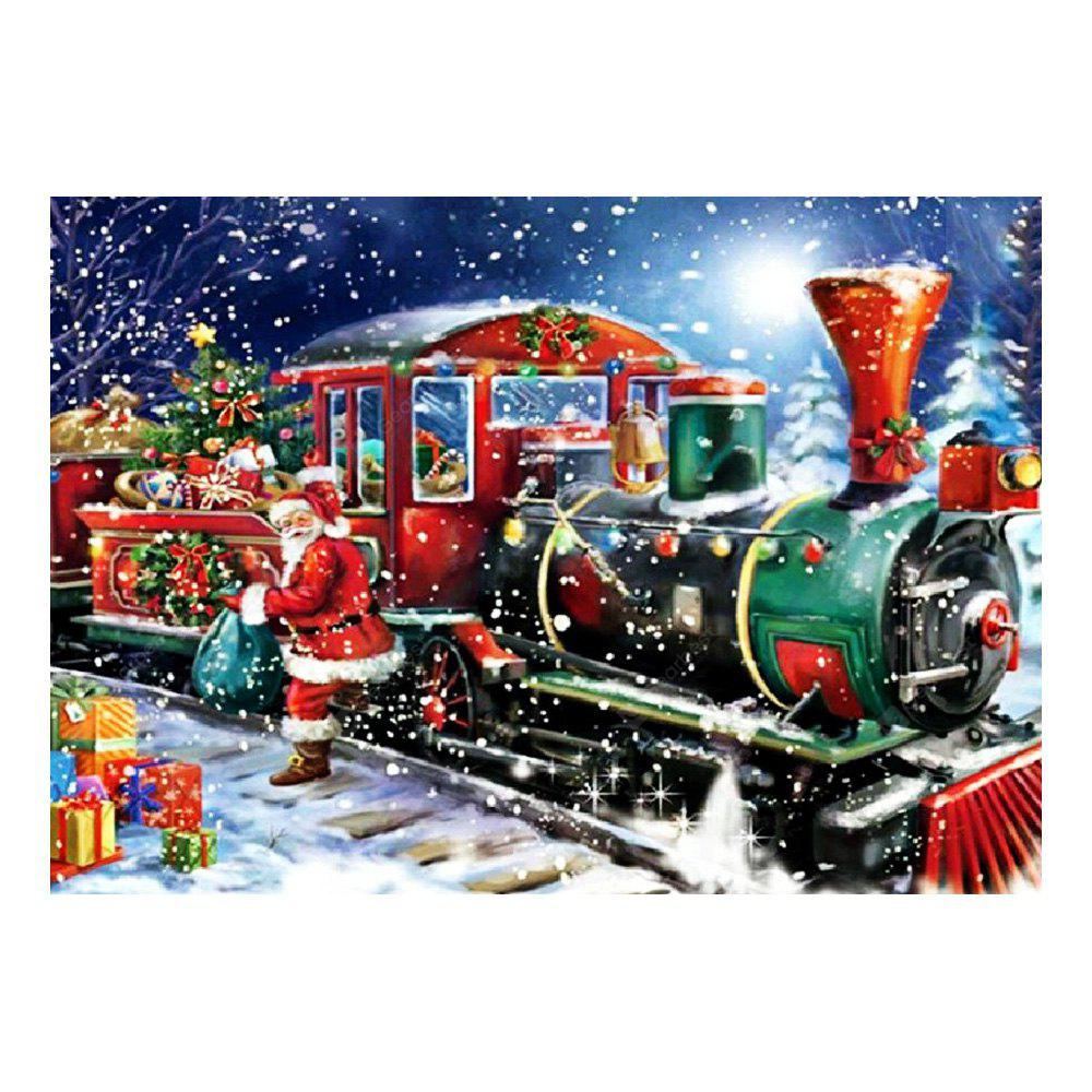 Diy Diamond Painting Christmas Train Cross Stitch Kit 40 X