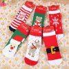 Creative Christmas Baby Socks Decorations 6 Pair - COLORMIX