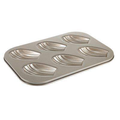 6 Cavity Carbon Steel Shell Shape Cake Mold Madeleine Mould