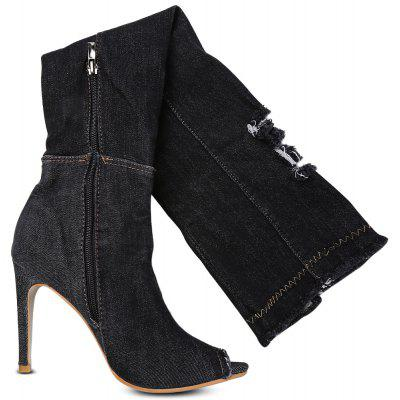 Female Sexy Peep Toe Thin High-heeled Denim Over-knee BootsWomens Boots<br>Female Sexy Peep Toe Thin High-heeled Denim Over-knee Boots<br><br>Boot Height: Over-the-Knee<br>Boot Tube Height: 53.5cm<br>Boot Type: Fashion Boots<br>Closure Type: Zip<br>Gender: For Women<br>Heel Height: 10cm<br>Heel Height Range: High(3-3.99)<br>Heel Type: Stiletto Heel<br>Outsole Material: Rubber<br>Package Contents: 1 x Over-the-knee Boots<br>Pattern Type: Others<br>Season: Spring/Fall, Winter<br>Shoe Width: Medium(B/M)<br>Toe Shape: Pointed Toe<br>Upper Material: Denim<br>Weight: 1.0360kg