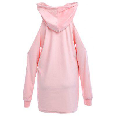 Women Cute Print Cold Shoulder Long Sleeve Hooded DressSweatshirts &amp; Hoodies<br>Women Cute Print Cold Shoulder Long Sleeve Hooded Dress<br><br>Closure Type: None<br>Collar: Hooded<br>Detachable Part: None<br>Elasticity: Micro-elastic<br>Fabric Type: Flannel<br>Hooded: Yes<br>Material: Polyester<br>Package Contents: 1 x Hooded Dress<br>Pattern Style: Letter<br>Shirt Length: Long<br>Sleeve Length: Full<br>Sleeve Style: Regular<br>Style: Active<br>Thickness: Thick<br>Weight: 0.3030kg