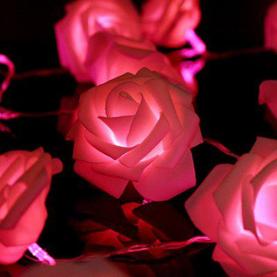 5m 40 LEDs Rose Flower Fairy String LightsLED Strips<br>5m 40 LEDs Rose Flower Fairy String Lights<br><br>Package Contents: 1 x Rose Flower String Light<br>Package Size(L x W x H): 24.00 x 7.00 x 17.50 cm / 9.45 x 2.76 x 6.89 inches<br>Package weight: 0.0710 kg<br>Product weight: 0.0700 kg