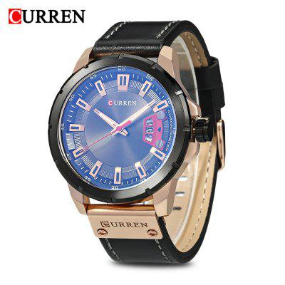 Buy Curren 8284 Male Quartz Watch, BLACK+GOLD+BLACK, Watches & Jewelry, Men's Watches for $17.84 in GearBest store