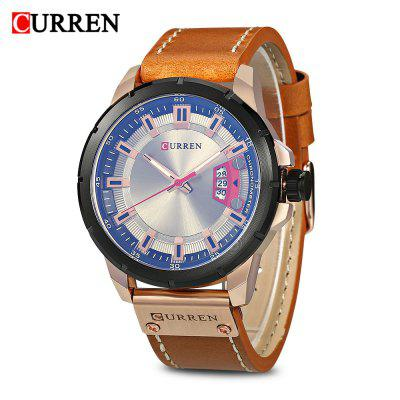 Buy Curren 8284 Male Quartz Watch, BROWN + GOLDEN, Watches & Jewelry, Men's Watches for $17.84 in GearBest store