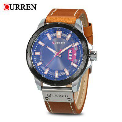 Buy Curren 8284 Male Quartz Watch, BROWN + SILVER, Watches & Jewelry, Men's Watches for $17.84 in GearBest store
