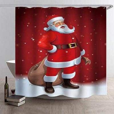 Christmas Style Waterproof Bath Shower Curtain