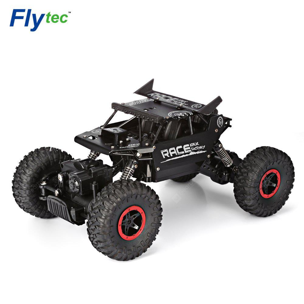 Flytec 9118 1:18 Alloy 2.4G Four-wheel RC Climbing Rock Car - Black