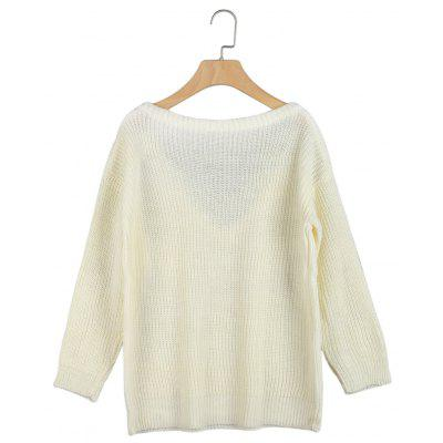 Plunge Neck Long Sleeve Loose Women SweaterSweaters &amp; Cardigans<br>Plunge Neck Long Sleeve Loose Women Sweater<br><br>Collar: V-Neck<br>Elasticity: Micro-elastic<br>Material: Acrylic<br>Package Contents: 1 x Sweater<br>Sleeve Length: Full<br>Style: Fashion<br>Type: Pullovers<br>Weight: 0.2170kg