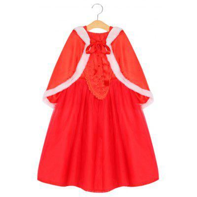 Girls Princess Puff Sleeve Floral Tulle Dress Kids Party Clothing
