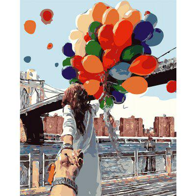 DIY Romantic Balloon Painting Art Wall Home Decoration