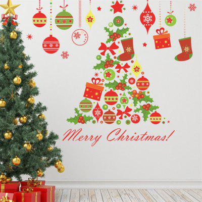 Buy DIY Wall Stickers Window Clings Collage Christmas Tree COLORMIX for $4.50 in GearBest store