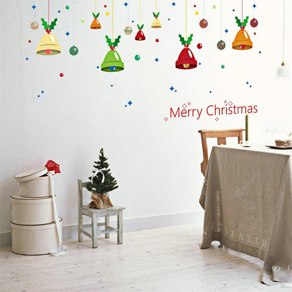 DIY Christmas Wall Stickers Removable Window Clings Bells