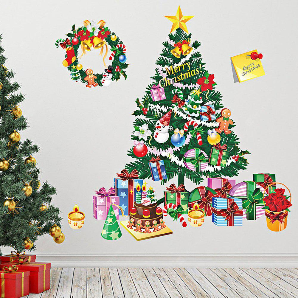 DIY Christmas Wall Stickers Removable Window Clings for Home Dress Shop Coffee House Supermarket Restaurant
