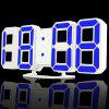 3D LED Digital Alarm Clock - AZUL
