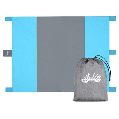 Buy GRAY AND BLUE Outlife Multi-uses Beach Mat for Picnic and Camping for $20.37 in GearBest store