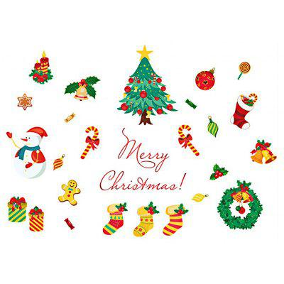 Buy COLORMIX DIY Wall Stickers Window Clings Christmas Tree Snowman for $3.59 in GearBest store