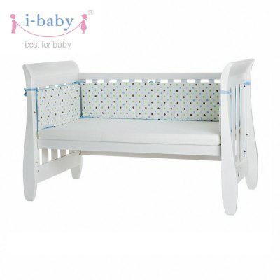 I-baby Polka Dot Printed Cotton Baby Bedside Bumpers