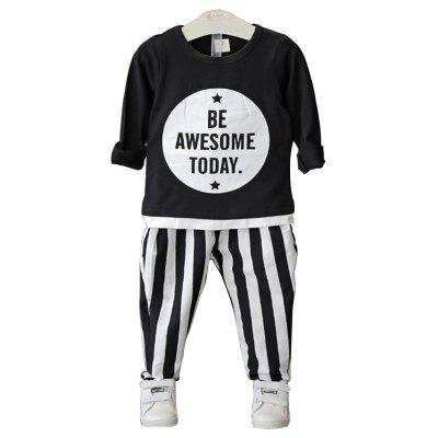 Autumn Outfit New Girls Striped Baby Sets Children Suits Pure Cotton Clothes
