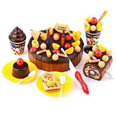 73PCS Party Birthday Cake Toy Play Fruit Food for Kids