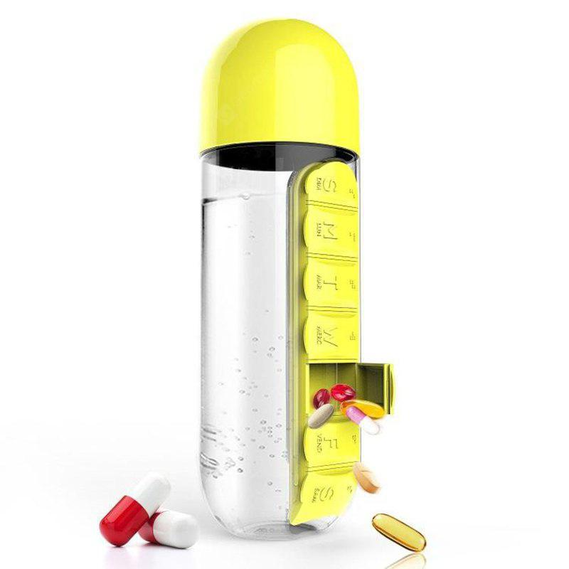 Outdoor Portable Water Bottle with Medicine Box