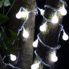 5m 40 LEDs Ball Globe Fairy String Light - WHITE