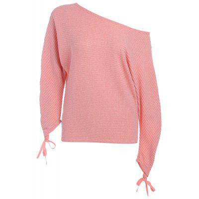 Sexy Women Long Sleeve Loose Casual One Shoulder Tee Top