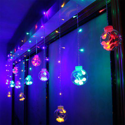 3m 120 LEDs Window Ball Linkable Curtain String Light