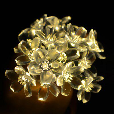 Buy WARM WHITE LIGHT 50 LEDs Floral String Lights 8 Modes Christmas Decoration for $10.84 in GearBest store