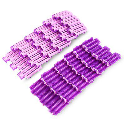 45pcs Hair Clips Clamps Curler Rollers Wavy Curling DIY Tools