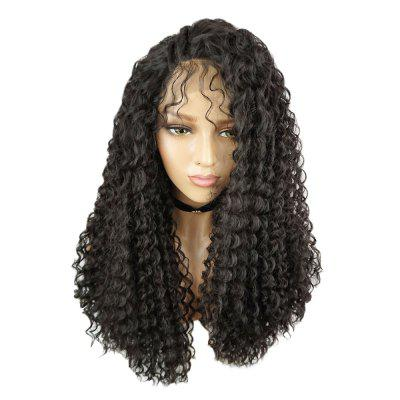 Women Kinky Curly Side Parting Synthetic Hair Lace Front Wig