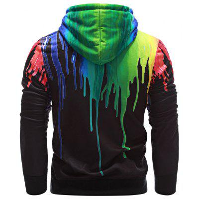 Hooded Long Sleeve Colorful Print Pullover Men HoodieMens Hoodies &amp; Sweatshirts<br>Hooded Long Sleeve Colorful Print Pullover Men Hoodie<br><br>Material: Cotton, Polyester<br>Package Contents: 1 x Hoodie<br>Shirt Length: Regular<br>Sleeve Length: Full<br>Style: Fashion<br>Weight: 0.4400kg