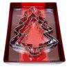 KUKI - FUN 3PCS Christmas Trees Cookie Cutters Cake Decor - SILVER