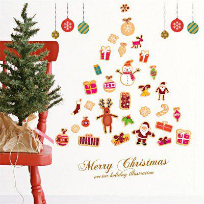 DIY Wall Stickers Window Clings Christmas Tree GiftsParty Supplies<br>DIY Wall Stickers Window Clings Christmas Tree Gifts<br><br>Package Contents: 1 x Set of Christmas Wall Stickers<br>Package Size(L x W x H): 50.00 x 4.00 x 4.00 cm / 19.69 x 1.57 x 1.57 inches<br>Package weight: 0.1700 kg<br>Product weight: 0.1100 kg
