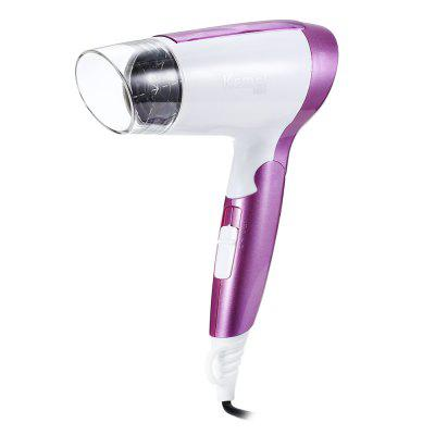 Kemei KM - 6833 Electric Folding Mini Travel Hair Blow DryerHair Care<br>Kemei KM - 6833 Electric Folding Mini Travel Hair Blow Dryer<br><br>Applicable Hair: Dry&amp;Wet<br>Cable Length: 130cm<br>Max. Power: 1600W<br>Nozzle Type: Air Collecting<br>Number of Gears: 3<br>Package Content: 1 x Hair Dryer, 1 x English Manual<br>Package Size(L x W x H): 12.80 x 8.80 x 21.00 cm / 5.04 x 3.46 x 8.27 inches<br>Package weight: 0.4380 kg<br>Portability: Foldable Handle<br>Power Cord Tail Assembly Mode: Fixed, non-rotatable<br>Powered Source: Electric<br>Product weight: 0.3690 kg<br>Voltage (V): 220